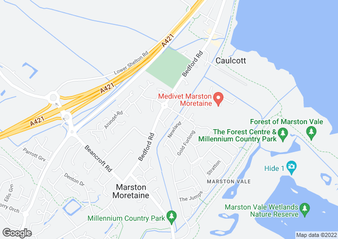 Map for Marston Moretaine