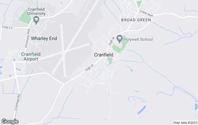 Map for Cranes Estate Agents, Cranfield