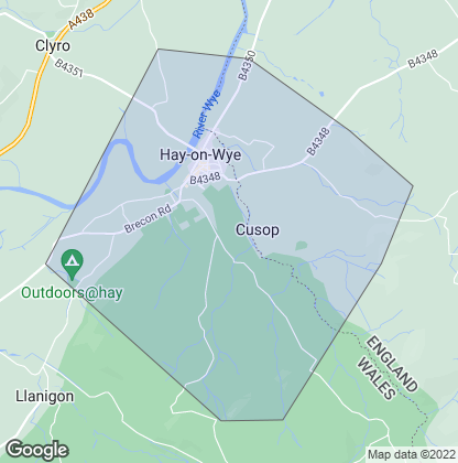 Map of property in Hay-On-Wye