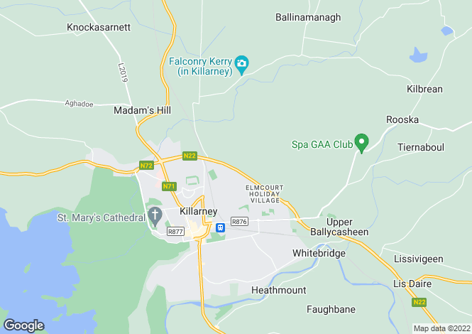Map for Upper Lissivigeen, Killarney, Kerry