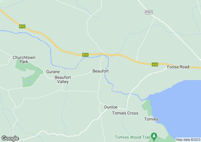 Map for Beaufort, Beaufort, Kerry