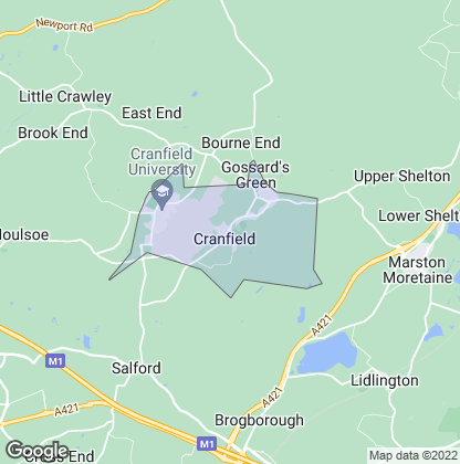 Map of property in Cranfield