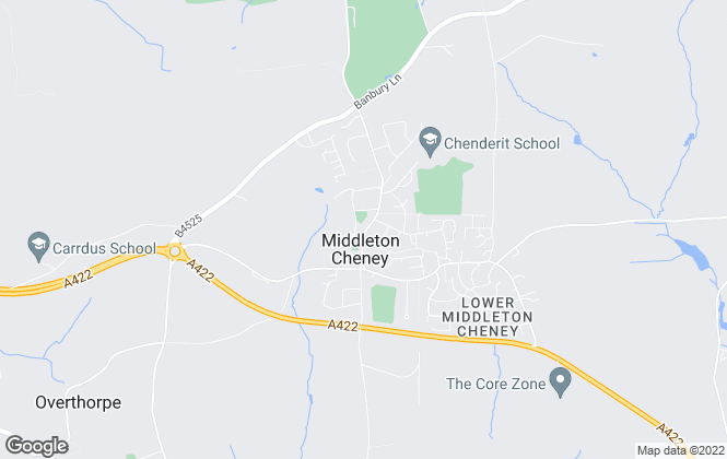 Map for Macintyers, Middleton Cheney
