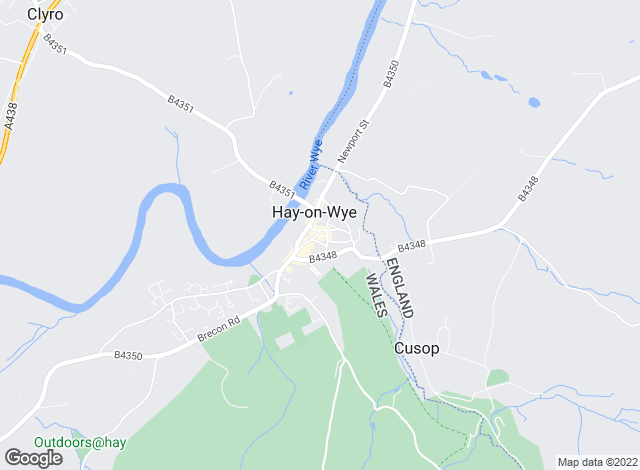 Map for McCartneys LLP, Hay-On-Wye