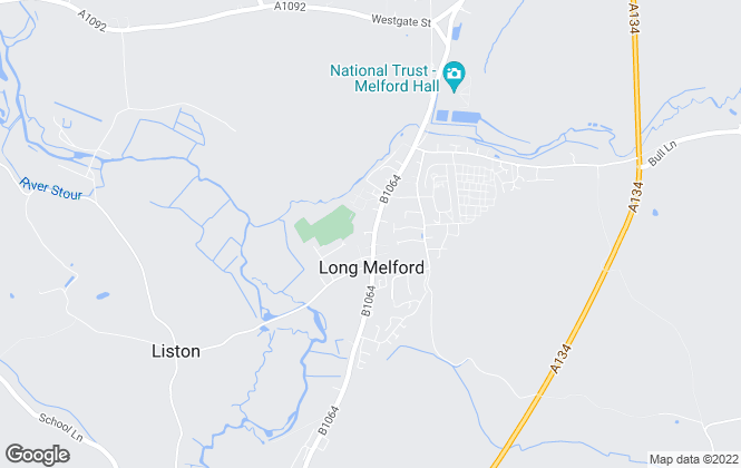 Map for Sheridans, Long Melford