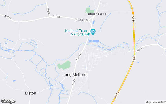 Map for David Burr Estate Agents, Long Melford
