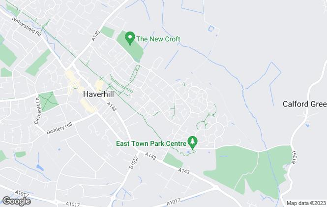 Map for Jamie Warner Estate Agents, Haverhill