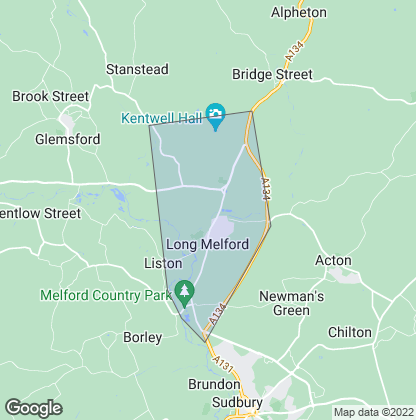Map of property in Long Melford