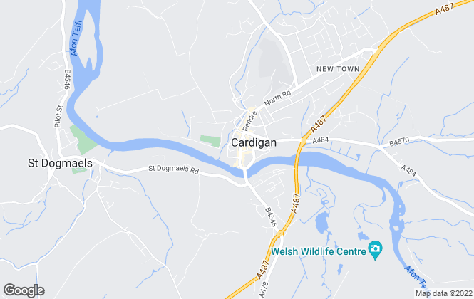 Map for JJ Morris, Cardigan