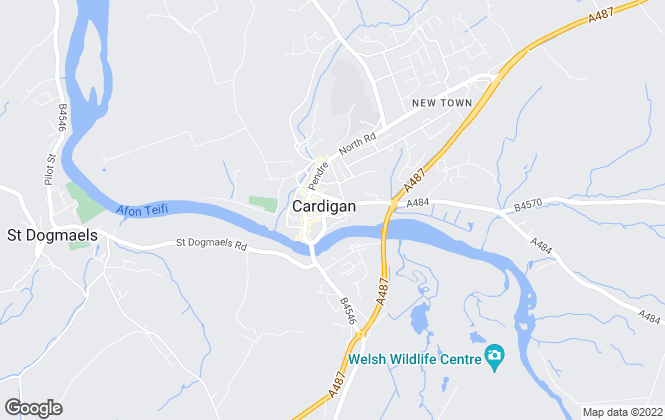 Map for West Wales Properties, Cardigan