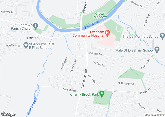 Map for Eastwick Drive, Cheltenham Road, Evesham, Worcestershire