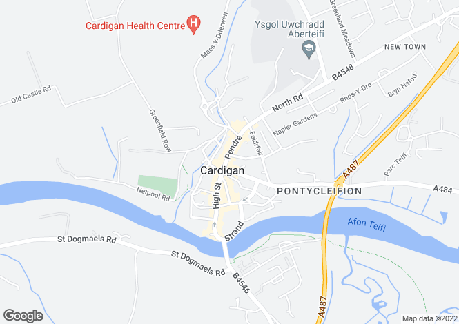 Map for Pendre, CARDIGAN, Ceredigion