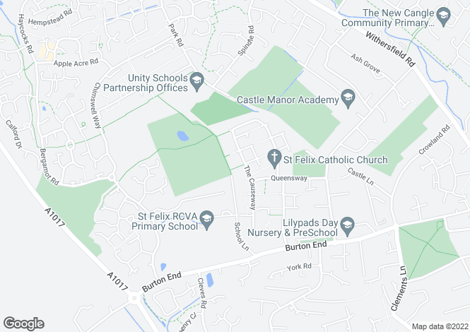 Map for Conway Close, HAVERHILL