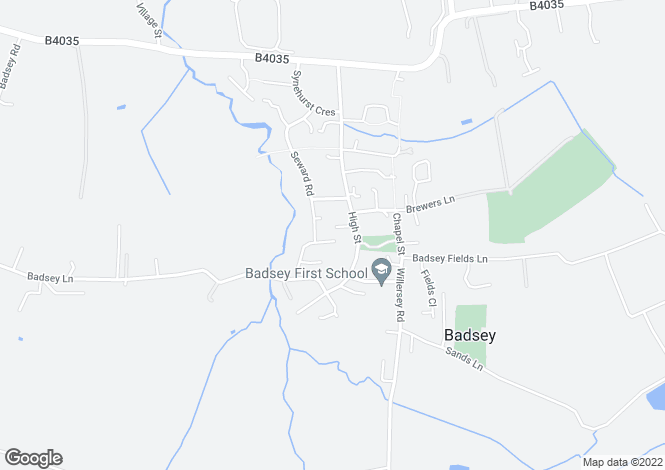 Map for 1 The Knapp, Badsey, Evesham, WR11