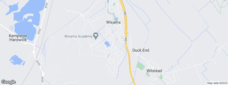Map for David Wilson Homes Northampton