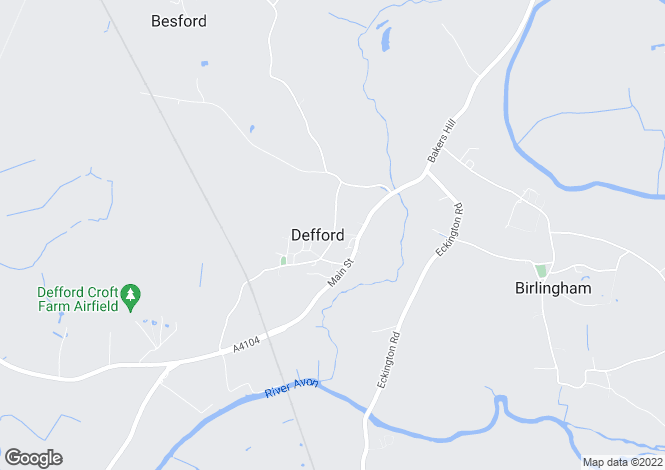 Map for Defford, Worcester