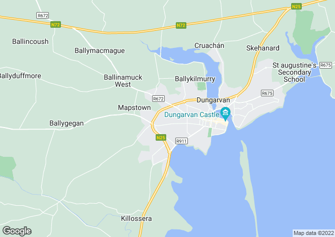 Map for Waterford, Dungarvan