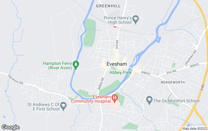 Map for Timothy Lea & Griffiths, Evesham -Commercial