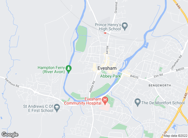 Map for Timothy Lea & Griffiths, Evesham