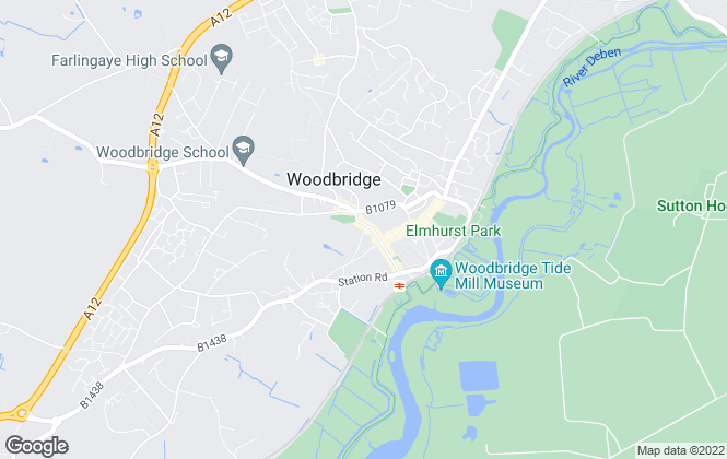 Map for Mortimers Estate Agents, Woodbridge