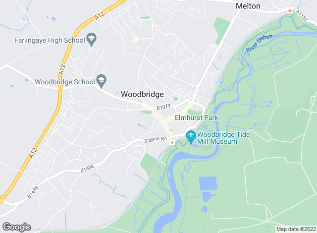 Map for Abbotts, Woodbridge