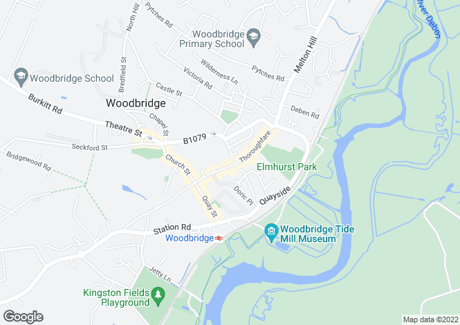 Map for Woodbridge