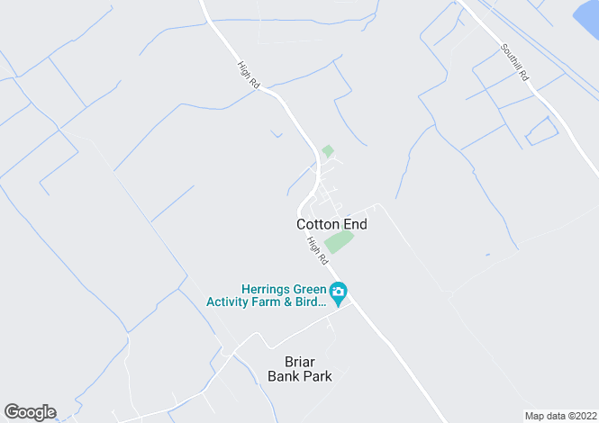 Map for COTTON END, Bedfordshire