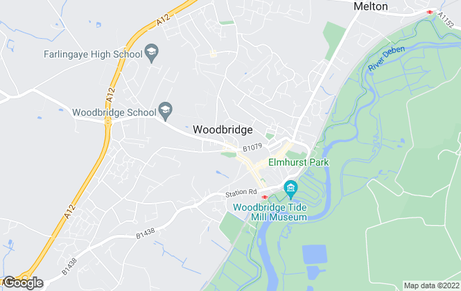 Map for Bedfords, Woodbridge