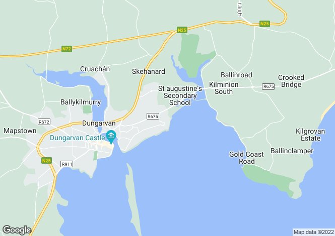 Map for Dungarvan, Waterford