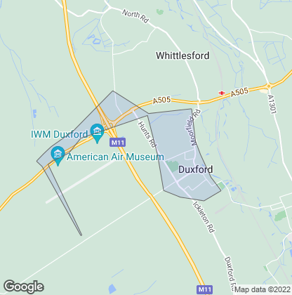 Map of property in Duxford