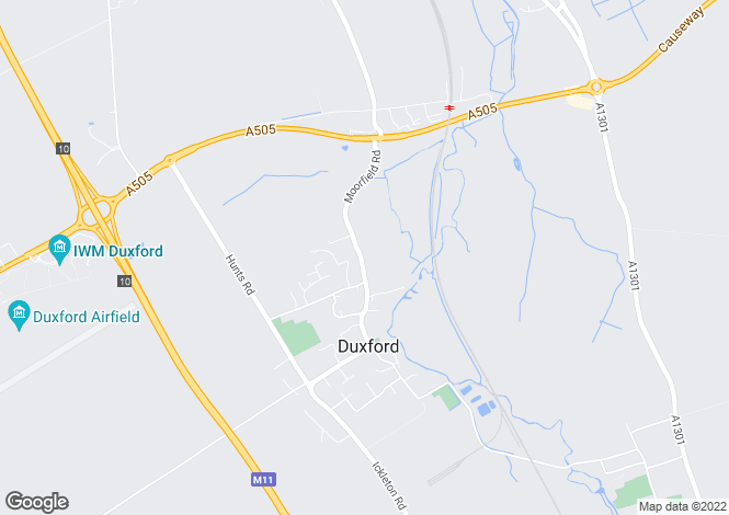Map for Moorfield Road,  Duxford