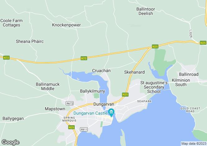 Map for Apartment 13 Cruachan, Dungarvan, Waterford
