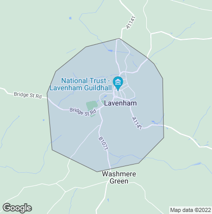 Map of property in Lavenham