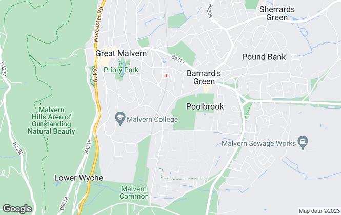 Map for Nicol & Co, Malvern