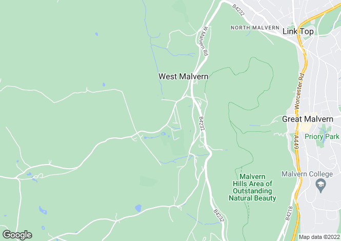 Map for RUNNINGS PARK, WEST MALVERN, WR14 4DU