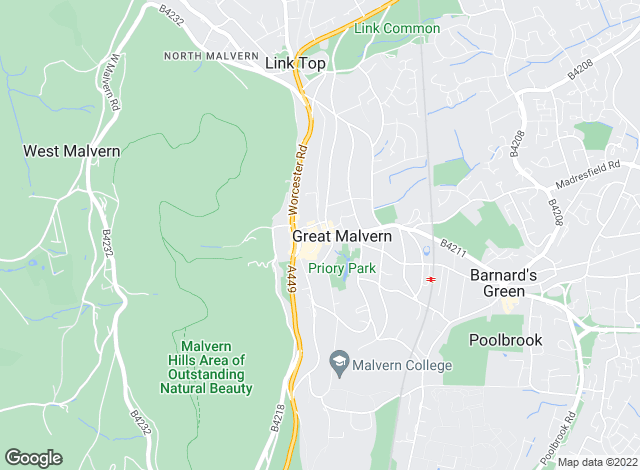 Map for Allan Morris & Ashton, Great Malvern