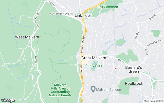 Map for Kimberley's Estate Agents, Malvern
