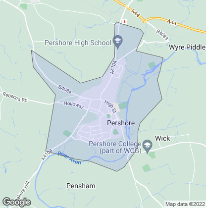 Map of property in Pershore