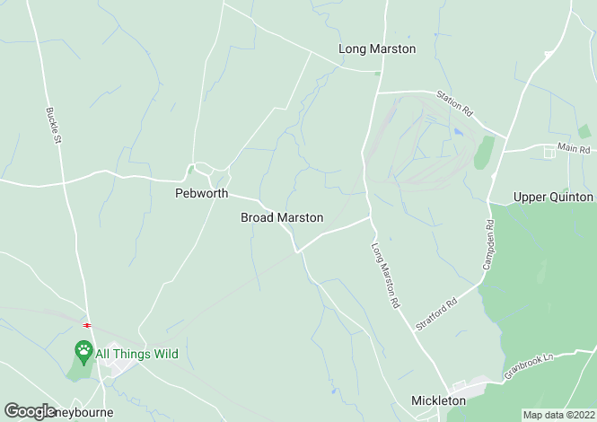 Map for Priory Lane, Broad Marston
