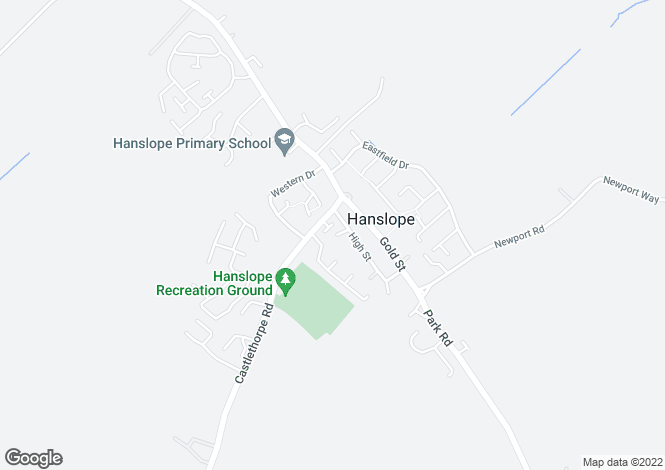 Map for Carriers Close, Hanslope, Milton Keynes, Buckinghamshire, MK19