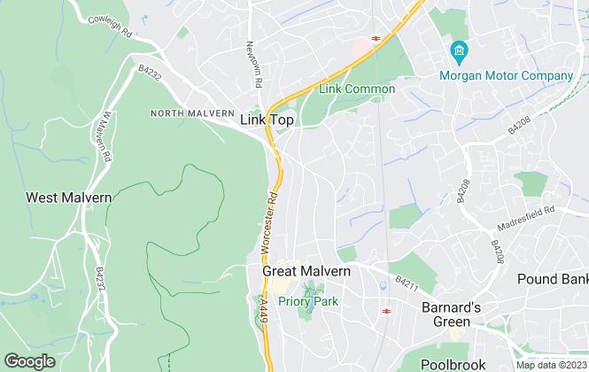 Map for Bespoke Property Management, Malvern