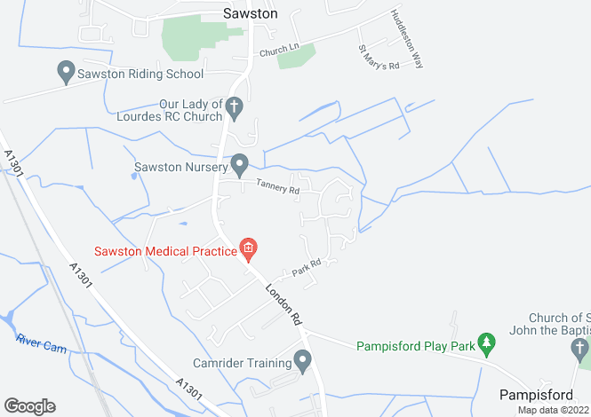 Map for Skiver Close, Sawston