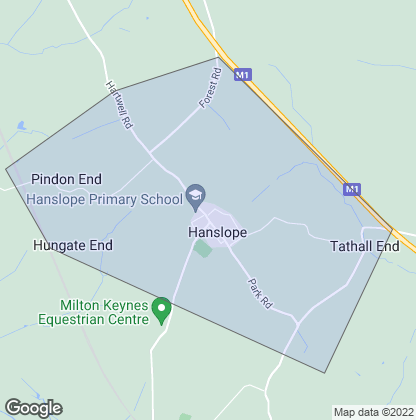 Map of property in Hanslope