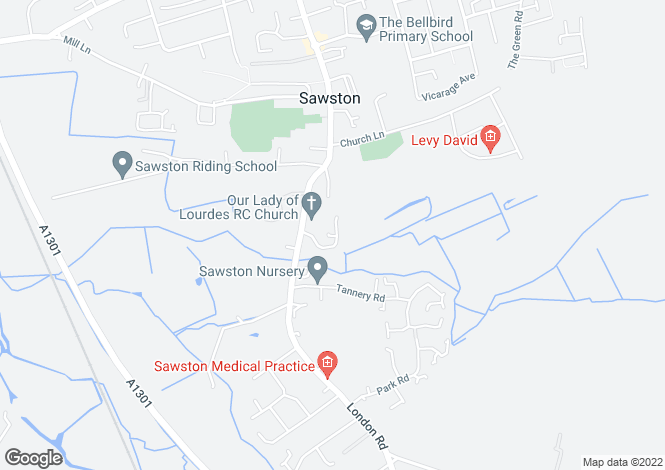 Map for Prince William Way, Sawston