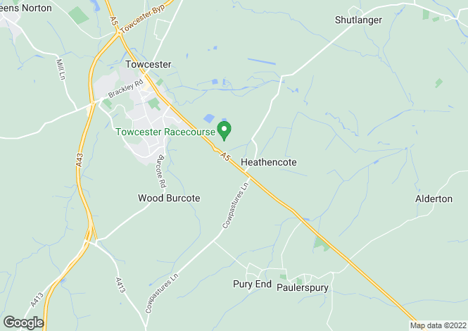 Map for Heathencote, Towcester, Northamptonshire, NN12