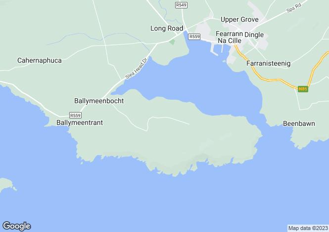 Map for Burnham, Dingle, Co Kerry