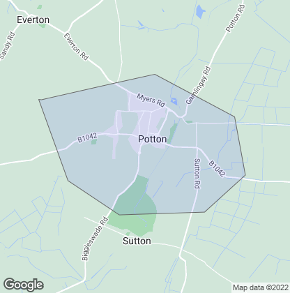 Map of property in Potton