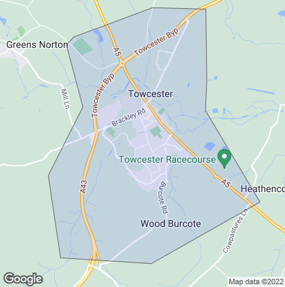 Map of property in Towcester