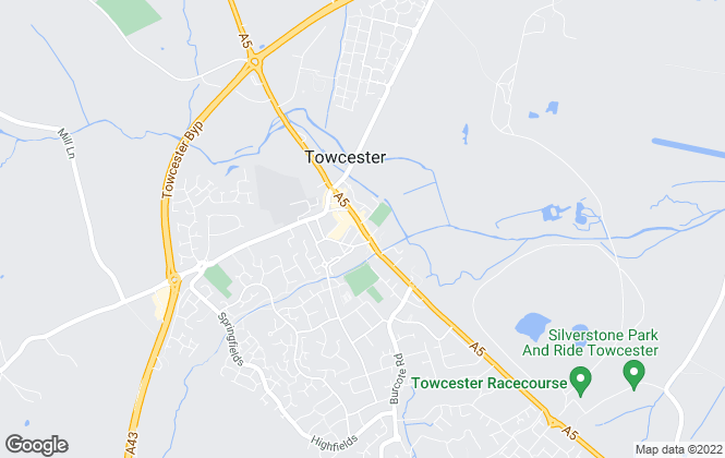 Map for Bartram & Co , Towcester
