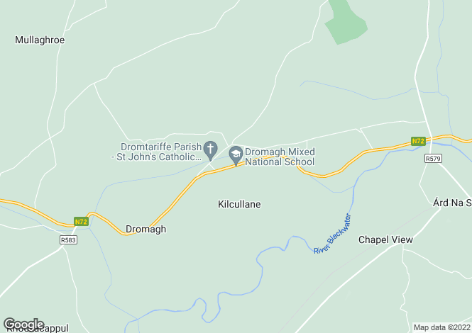 Map for Dromagh, Mallow, Cork